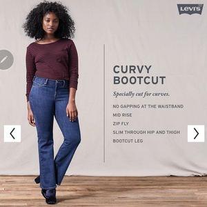 NEW Levis Curvy Bootcut Jeans